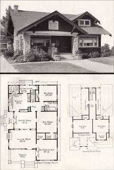 1920s Craftsman Bungalow House Plans 1920 Original Pinterest