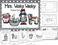 First Grade Blue Skies: Mrs. Wishy Washy freebie pack!