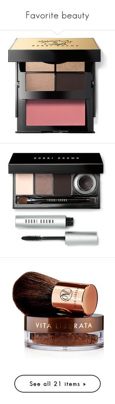 """Favorite beauty"" by ela79 ❤ liked on Polyvore featuring beauty products, makeup, eye makeup, eyeshadow, cosmetics, bobbi brown cosmetics, palette eyeshadow, beauty, gel eyeliner and long wear makeup"