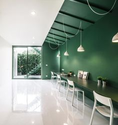 12 minimalist office interiors where there's plenty of… dezeen Interior Design Color Schemes, Cafe Interior, Office Interior Design, Office Interiors, Colour Schemes, Interior Design Magazine, Interior Minimalista, Minimalist Office, Minimalist Interior