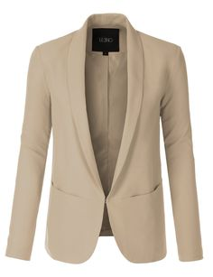 LE3NO Womens Classic Long Sleeve Fully Lined Blazer Jacket