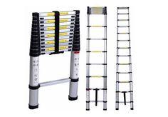 Telescoping Ladder Attic Loft Stairs Aluminum Extension Extendable Portable  #Leapair