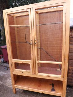 Bird/parrot Cage Idea   Custom Design   Could Be Made Using An Old Wardrobe