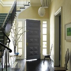 painted interior door - gray  Like gold and gray color combo
