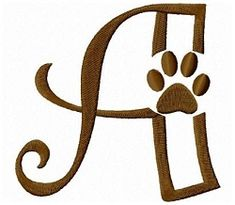 Dog Footprints Letters - 4x4 | Alphabets | Machine Embroidery Designs | SWAKembroidery.com Fun Stitch