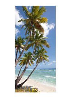 Motivdruck Palmen am Strand Papier