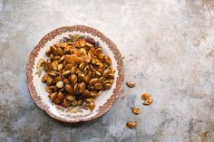 A sweet and salty and slightly addictive pumpkin seed recipe!