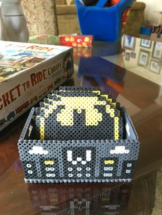 Batman perler bead coaster set