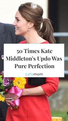 Kate Middleton's hair - just like her own personal style - are classic and understated. Her updos . Fancy Hairstyles, Hairstyles For School, Wedding Hairstyles, Kate Middleton Hair, Kate Middleton Wedding, White Ombre Hair, Bridesmaid Hair Updo, Short Hair Styles Easy, Long Hair Cuts