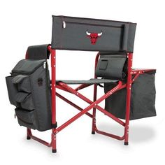 Chicago Bulls Fusion Portable Outdoor Chair w/Digital Print - Grey/Red