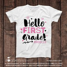 Back to School Shirt Girl  First Day of 1st by stockberryapparel