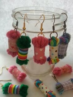 Bacon Time With The Hungry Hypo: Frugal Yarn Skein Earring Craft Tutorial With Video