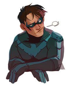 batman doesn't do ships Bob Kane, Teen Titans, Nightwing And Batgirl, Richard Grayson, Fighting Poses, Bat Boys, Batman Universe, Dc Universe, Batman Family