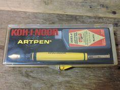 New sealed Vintage NOS yellow 3050 KOH-I-NOR ARTPEN Fountain Pen with INDIA INK #Kohinor