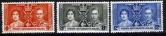 Straits Settlements 1937 King GeorgeVI Coronation Set Fine Mint SG 275 7 Scott 235 7 Condition Fine LMM Only one post charge applied on multipule