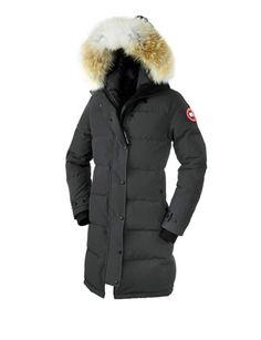 CANADA GOOSE Graphite Shelburne Parka with Fur Hood