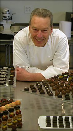 Master Chocolatier Jean-Pierre Wybauw. I got the privilege to watch Chef Wybauw work this week during his two Chocolate CE. Such a sweet, knowledgeable man.