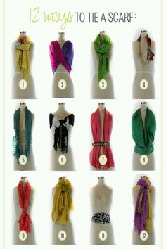 Interestinger ways to tie a scarf