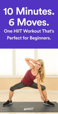 Ease into high-intensity interval training with this routine. #greatist http://greatist.com/move/home-workout-10-minute-low-impact-HIIT-workout