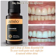 Améo Essential Oils: whiten your teeth naturally without harmful chemicals Learn more or purchase the product or sign up with me from my web site. http://www.rodriguez7.myameo.com/