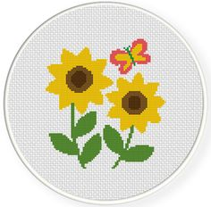 FREE for Jan 31st 2015 Only - Sunflowers Cross Stitch Pattern