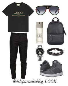 Look today! www.deleparaeles.com.br by HallisonCampos on Polyvore featuring polyvore, Gucci, Maison Margiela, adidas, Raymond Weil, Lanvin, Simon Carter, Giorgio Armani, men's fashion, menswear and clothing