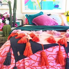 Colour love and loads of new Kip&Co at by kipandco Dream Bedroom, Home Bedroom, Girls Bedroom, Bedroom Decor, Bedrooms, Happy Room, Colorful Apartment, Little Girl Rooms, Colorful Decor