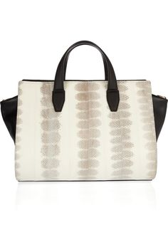 Alexander Wang 'Pelican' leather and snakeskin tote