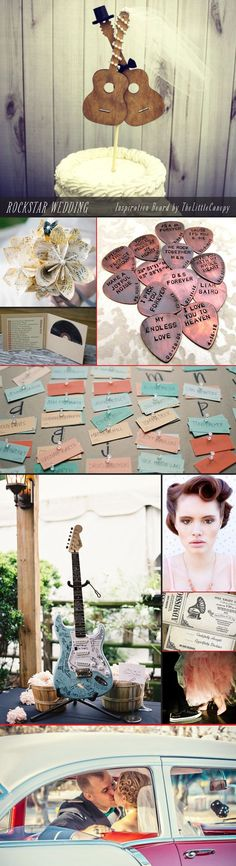 Rock n Roll Rockstar Wedding Inspiration Board! The Craze By Starting Your Own Scrapbooking Business! I will give you a copy of an E-Book Vintage Wedding Theme, Cute Wedding Ideas, Wedding Themes, Diy Wedding, Dream Wedding, Wedding Inspiration, Vintage Weddings, Trendy Wedding, Themed Weddings