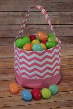 Pink Chevron Easter Basket