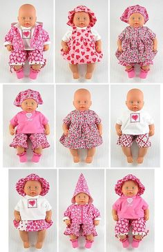 Baby Doll sewing patterns for Baby Dolls tall Summer Hearts, the Wollyonline doll pattern for tall baby dolls is available on . Sewing Doll Clothes, Sewing Dolls, Girl Doll Clothes, Girl Dolls, Ag Dolls, Reborn Dolls, Reborn Babies, Barbie Clothes, Baby Clothes Patterns