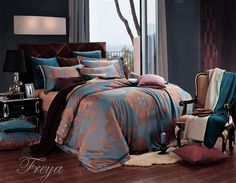 Amazon.com: Dolce Mela DM477K Jacquard Damask Luxury Bedding Duvet Covet Set, King: Bedding & Bath
