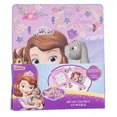 Set de colorat cu puzzle Sofia SOF-XP06 Puzzles, Disney Characters, Fictional Characters, Disney Princess, Anime, Art, Character, Art Background, Puzzle