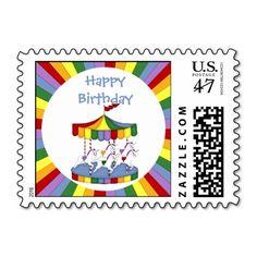 Rainbow Unicorn Carousel Birthday