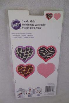 Wilton Animal print Candy Mold 3 Design 3 Cavities New 2115-1800 #Wilton