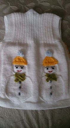 Discover thousands of images about Bebek yele Baby Boy Knitting Patterns, Baby Sweater Knitting Pattern, Knit Baby Sweaters, Crochet Flower Patterns, Knit Patterns, Free Knitting, Baby Vest, Baby Cardigan, Crochet Girls