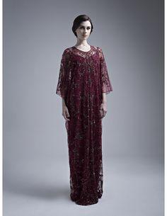 Kaftan by Kanzi designer available on line www.atypic-creation.com  #kaftan #dress #beautiful #fashion #style #mode #luxury #marron #new #collection #design #designer #Emirati #modern #chic #Dubai