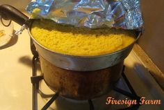Steamed corn pudding