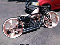 Custom Harley Sporster #CUSTOM #Harley #Sporster