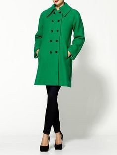 ShopStyle: MillyLena Bonded Double Wool Coat