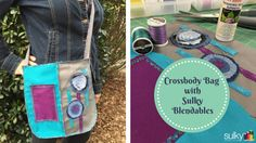 Amy Barickman's Crossroads Denim can be used for home decor, garments, accessories and more! See great ideas on our Crossroads blog tour like the Creative Crossbody from Sulky!
