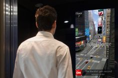 DigiGage | Elevator Screen Creates Interactive Experiences On Everyday Rides | PSFK