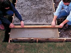 A basic concrete slab can be used for a patio, entryway or a surface for an HVAC unit to sit upon. Pouring Concrete Slab, How To Lay Concrete, Concrete Cement, Concrete Projects, Outdoor Projects, Outdoor Decor, Laying Concrete, Outdoor Ideas, Paint Cement