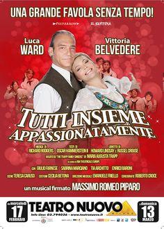 Tutti Insieme Appassionatamente, il Musical firmato da Massimo Romeo Piparo con la coppia Luca Ward e Vittoria Belvedere. #musical #lucaward #ward #vittoriabelvedere [Stagione teatrale 2015-2016].