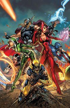 #Avengers #Fan #Art. (Uncanny Avengers Vol.1 #1 Variant Cover) By: Scott Campbell. (THE * 5 * STÅR * ÅWARD * OF: * AW YEAH, IT'S MAJOR ÅWESOMENESS!!!™)[THANK Ü 4 PINNING!!!<·><]<©>ÅÅÅ+(OB4E)   https://s-media-cache-ak0.pinimg.com/474x/61/47/4a/61474afa1d15eb52833b6218a8341ed5.jpg