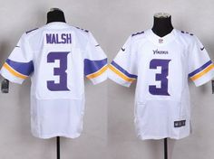 Men's Minnesota Vikings #3 Blair Walsh 2013 Nike White Elite Jersey
