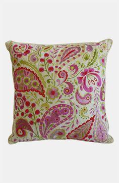 Garden fresh paisley pillow