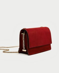 ZARA - WOMAN - SUEDE CROSSBODY BAG WITH GOLD CHAIN