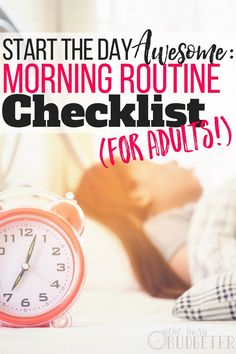 Creating a morning routine that actually works is such a struggle. This article gave me a step-by-step morning routine checklist for adults to help me develop and stick to a routine. Daily Routine For Women, Daily Routine Schedule, Skin Care Routine For 20s, Skin Routine, Daily Routines, Skincare Routine, Routine Planner, Daily Checklist, Daily Schedules