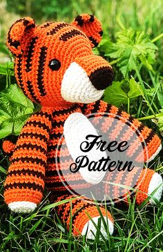 Amigurumi Thomas o padrão de crochê livre Tiger Parte ê ão Chat Crochet, Crochet Bear, Learn To Crochet, Crochet Animals, Crochet Toys, Free Crochet, How To Start Knitting, Amigurumi Toys, Stuffed Animal Patterns